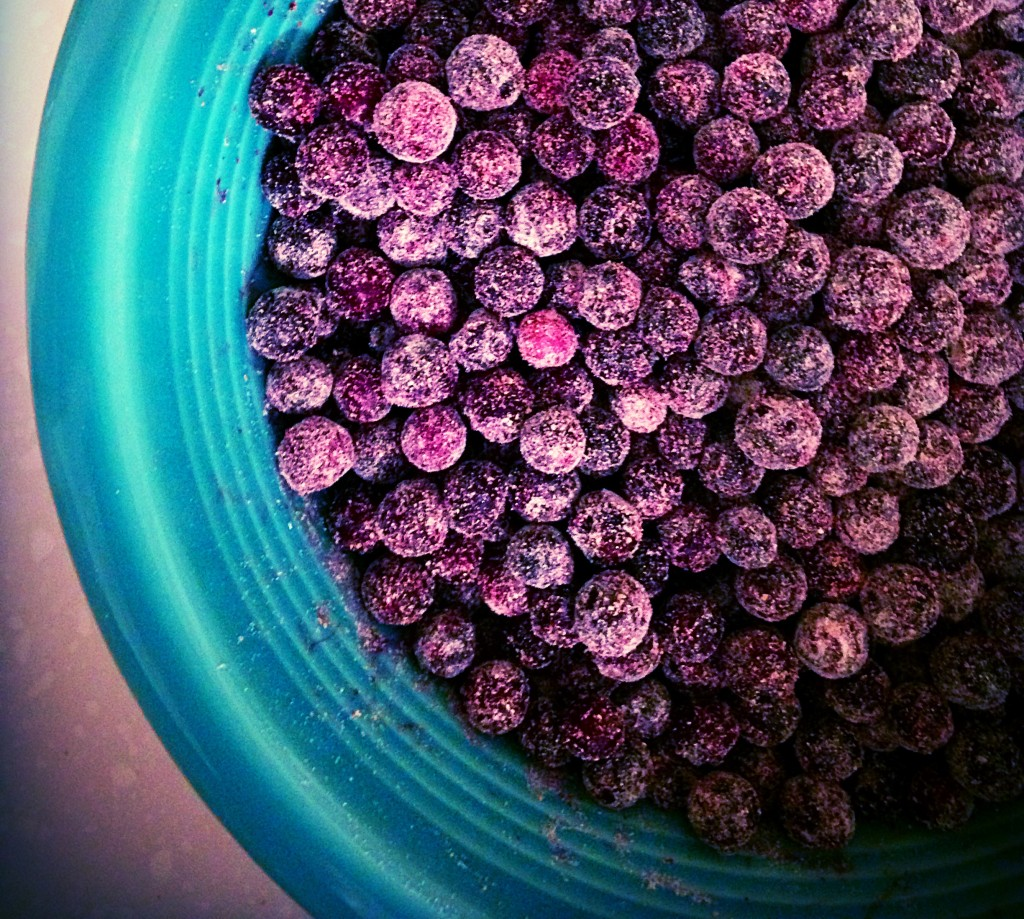 Flour Coated Blueberries